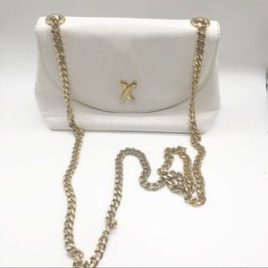 Paloma Picasso Vintage Genuine Leather Chain Bag